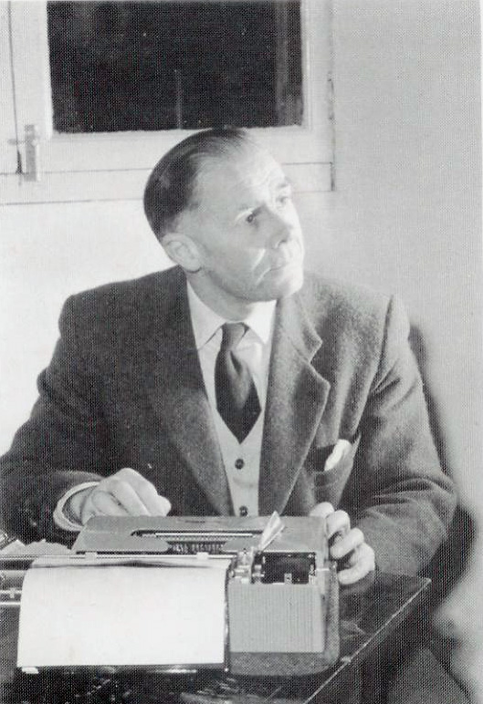 Nigel Tranter at his Typewriter- Scottish Author & Storyteller