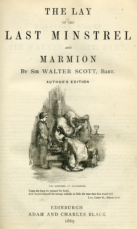 The Lay of the Last Minstrel - Sir Walter Scott