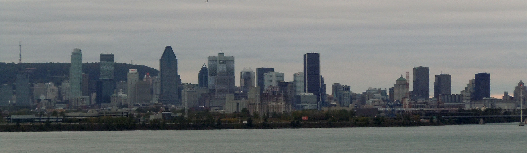 Panoramic view of Montreal skyscrapers, Province of Quebec