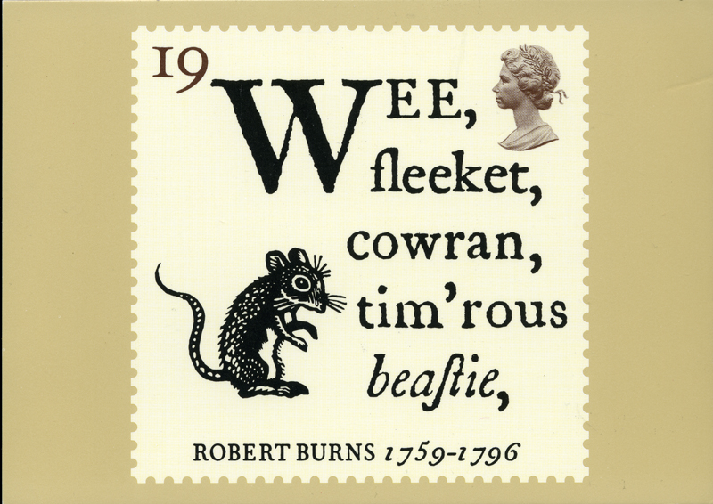 Robert Burns Royal Mail Stamp Cards Series 1996