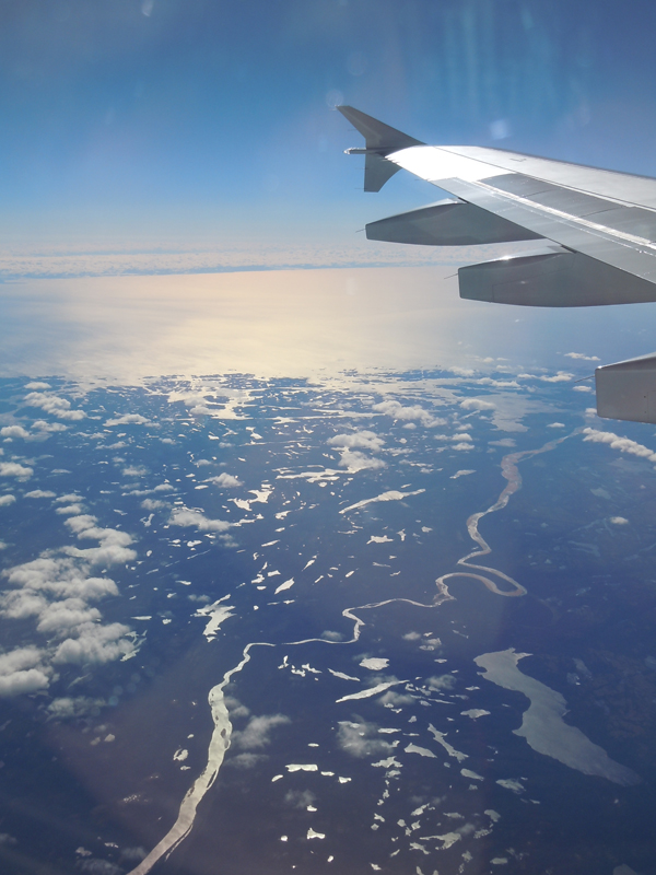 Aerial view of Labrador and Province of Quebec september 2010