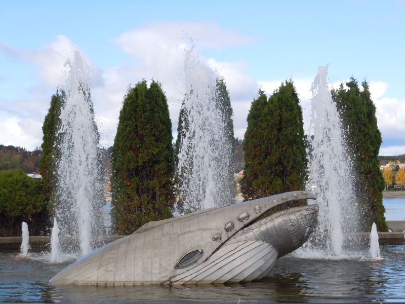 Chicoutimi Old Harbour fountain Province of Quebec Scotiana October 2010