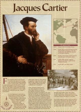 Jacques Cartier Great Explorers Education Art Poster Print