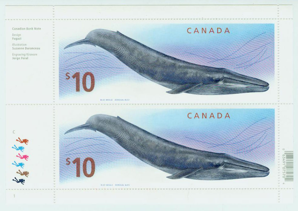The Blue Whale - Canadian Postage Stamp