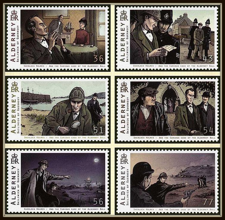 Sherlock Holmes Mystery Pack Alderney Stamps