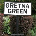 Scotland Dumfries & Galloway Gretna Green sign Scotiana 2007