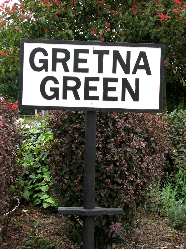 Scotland Dumfries & Galloway Gretna Green sign Scotiana 2007