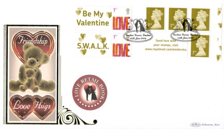 GB-Gretna-Green-Postmark-Benham-FDC-Teddy-Bear