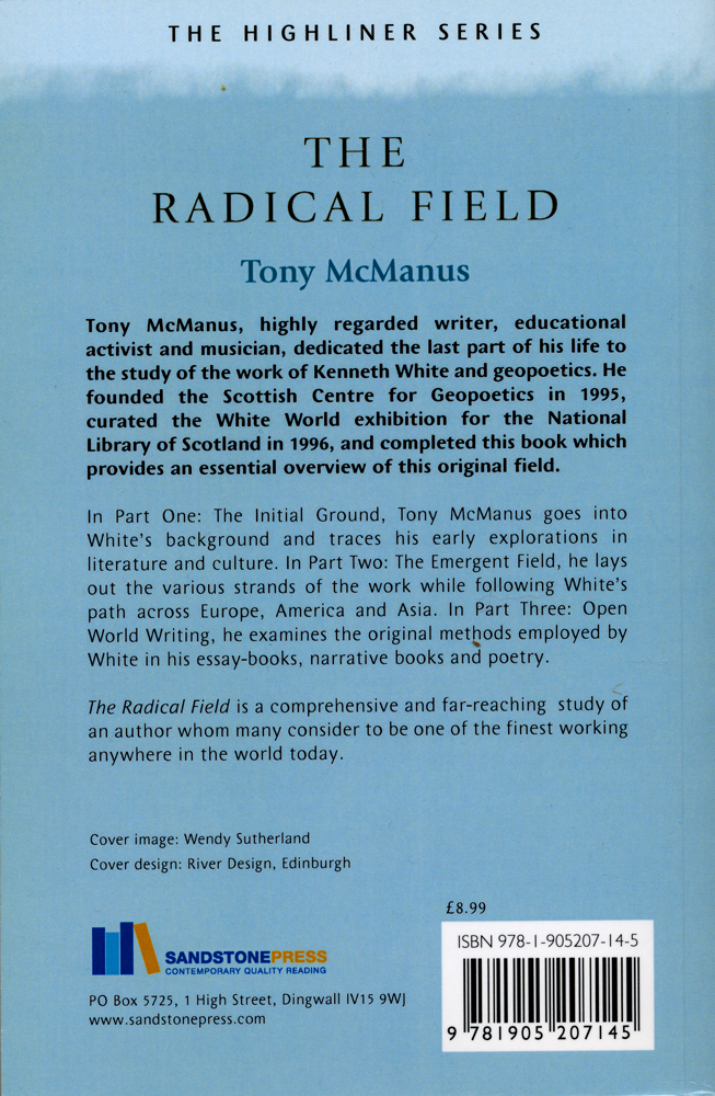 The Radical Field Tony McManus Sandstone Press Ltd 2007 back cover