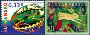 Slovakia - Hungary - Easter stamps