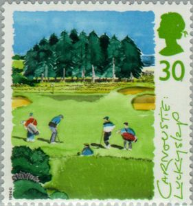 Carnoustie - Scottish Golf Courses - GB 1994 Postage Stamps