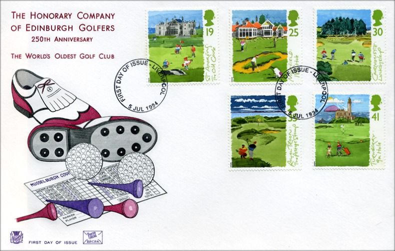 Great Britain Scottish Golf Courses FDC 1994