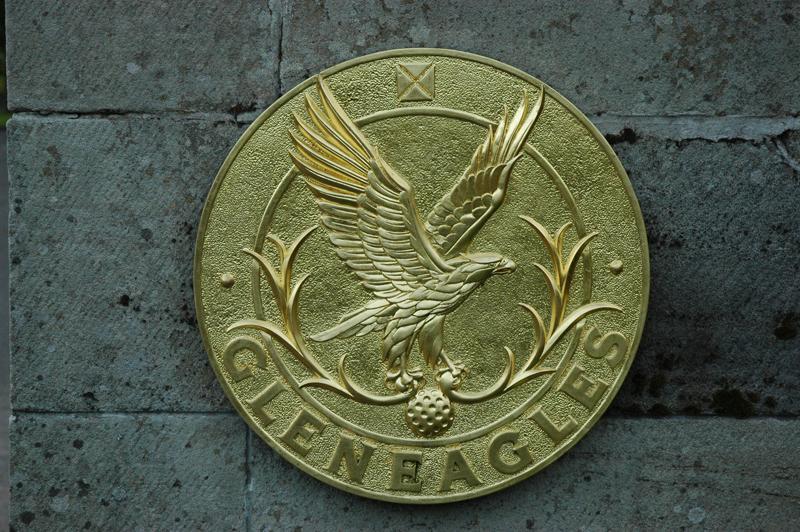 Scotland golf, Perth and Kinross, Auchterarder, Gleneagles, eagle emblem © 2007 Scotiana