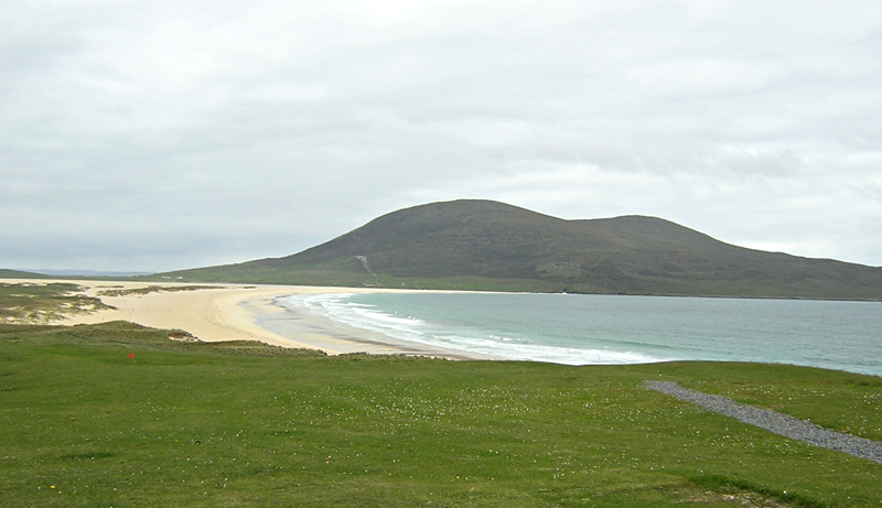 Scarista beach and golf South Harris Outer Hebrides Western Isles of Scotland