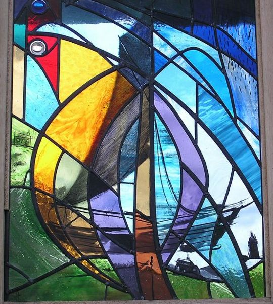 Betty Mouat Stained Glass Window Boddam Dunrossness Shetlopedia