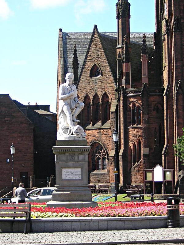 Robert Burns Statue - Dumfries - Dumfries & Galloway - Scotland © 2004 Scotiana