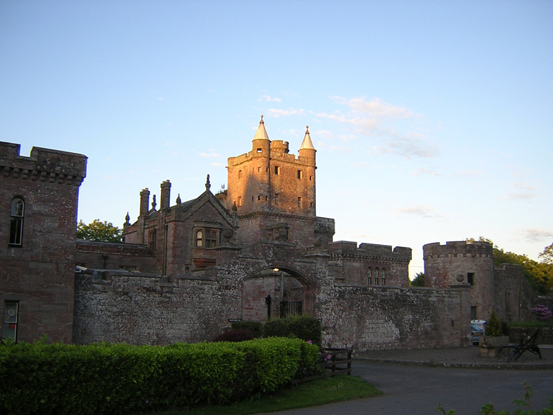 Sunset on the tower of Hoddom Castle Dumfries & Galloway Scotland © 2004 Scotiana