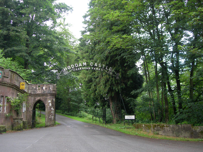 Hoddom Castle gates - Dumfries & Galloway - Scotland © 2004 Scotiana