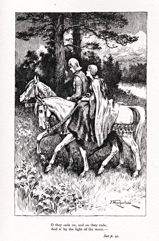 Minstrelsy of the Scottish Border Walter Scott The Douglas Tragedy illustration Alfred Noyes 1979 edition