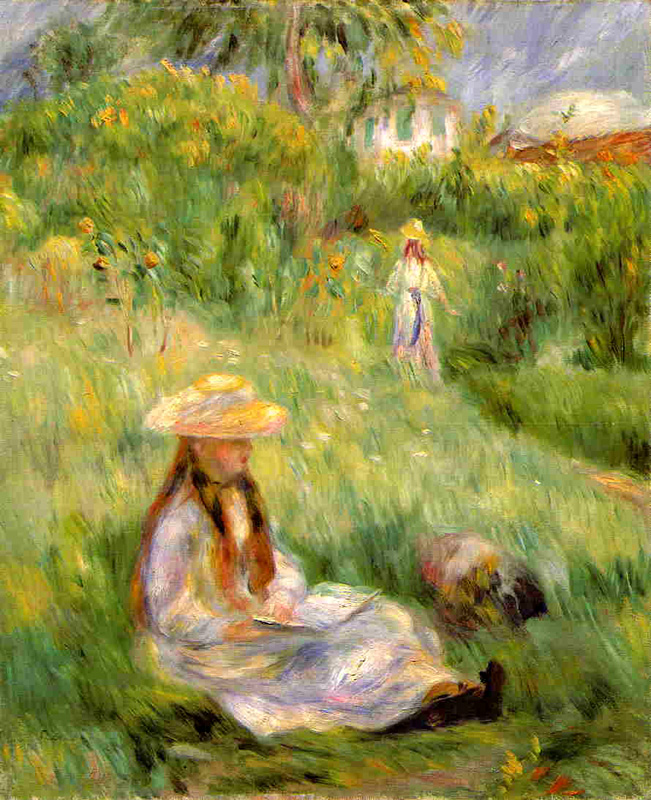 Auguste Renoir 'Young Girl in the Garden at Mezy' 1891 Boston Museum