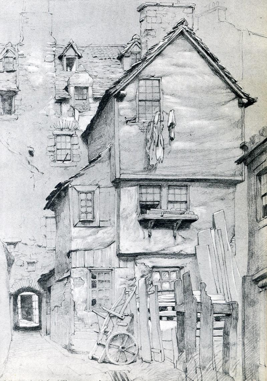 College Wynd  Edinburgh Source - David Daiches Sir Walter Scott and his World