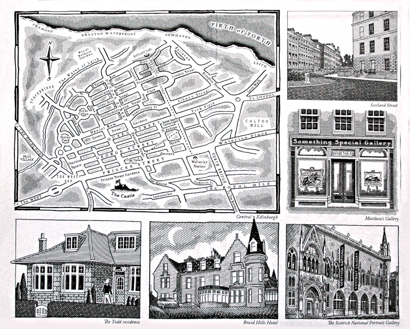 A Map Of Edinburgh In Alexander Mccall Smith S 44 Scotland Street