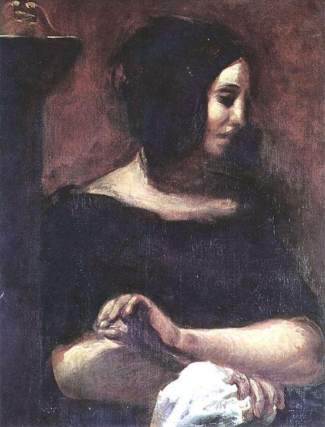 George Sand by Eugène Delacroix,1838 - Ordrupgaard Museum, Copenhague