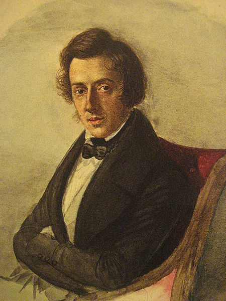Portrait of Frederic Chopin by Maria Wodzinska 1836 - Source Wikipedia