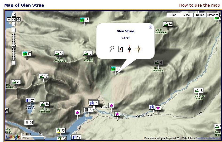 Glen Strae Scotlan Google Map