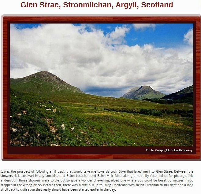 Glen Strae Scotland Photo by John Hennessy
