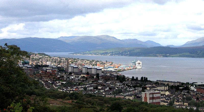 Greenock on the  Firth of Clyde Source Wikipedia
