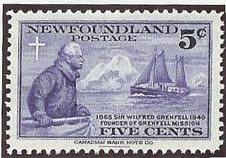 Newfoundland 1941 Sir Wilfred Grenfell 5c stamp