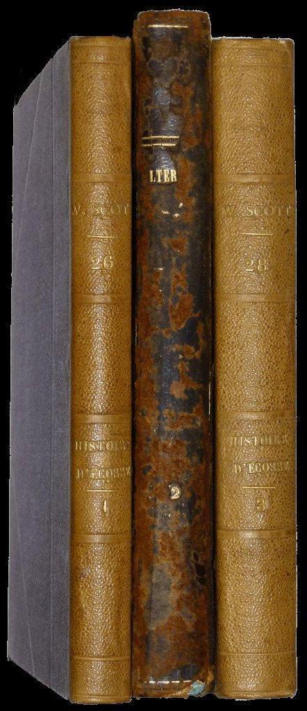 Oeuvres de Walter Scott Histoire d'Ecosse Traduction AJB Defauconpret Furne 1835
