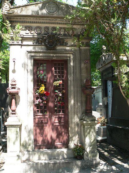 Rossini's grave Cimetière du Père Lachaise Paris Source Wikipedia