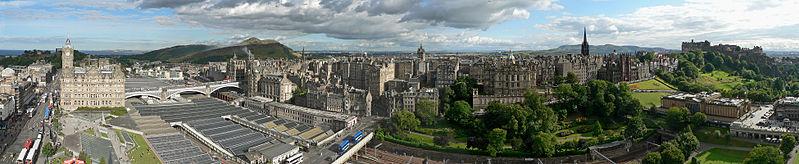 Edinburgh panoramic view from Scott Monument Wikipedia