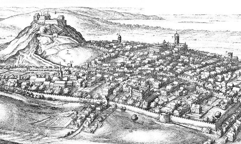 Edinburgh in the 17thC (detail) by Wenceslas Hollar (1670) - Wikipedia