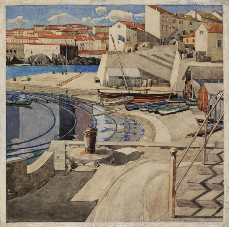 The Little Bay, Port Vendres 1927 Source The Hunterian Museum & Art Gallery University of Glasgow
