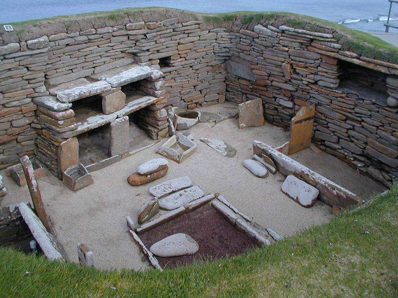 Orkney Skara Brae neolithic village © 2003 Scotiana