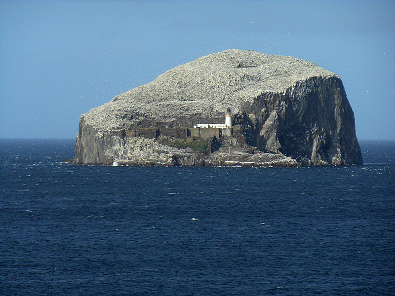 Bass Rock from Tantallon Castle East Lothian Scotland © 2012 Scotiana
