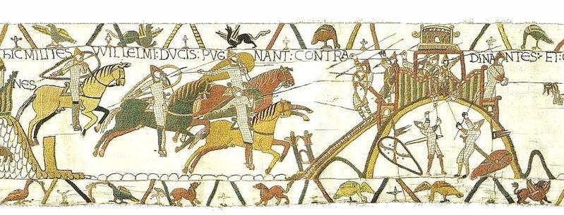 Bayeux Tapestry scene 19 William's calvarymen in battle  - Wikipedia