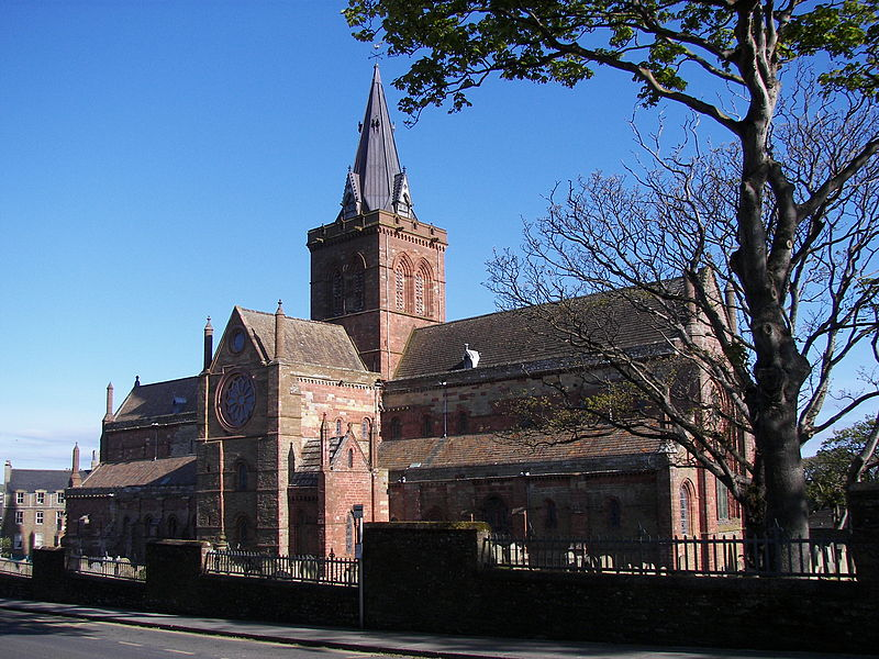 St Magnus Cathedral, Kirkwall, Orkney, Source Wikimedia