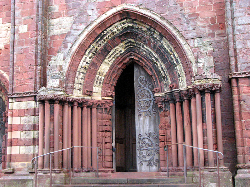 St Magnus Cathedral western front central doorway  © 2012 Scotiana