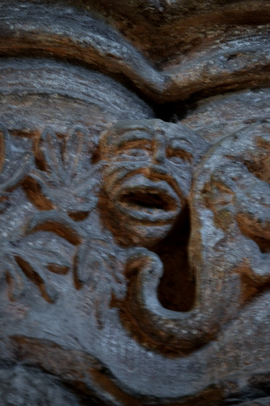 St Magnus Cathedral Greenman Carvings Kirkwall Orkney Scotland - Scotiana 2012
