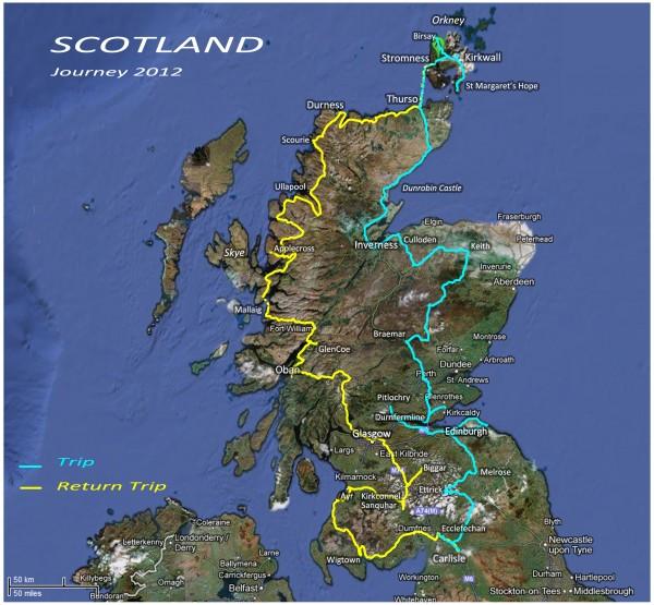 2012 09 Carte parcours Ecosse