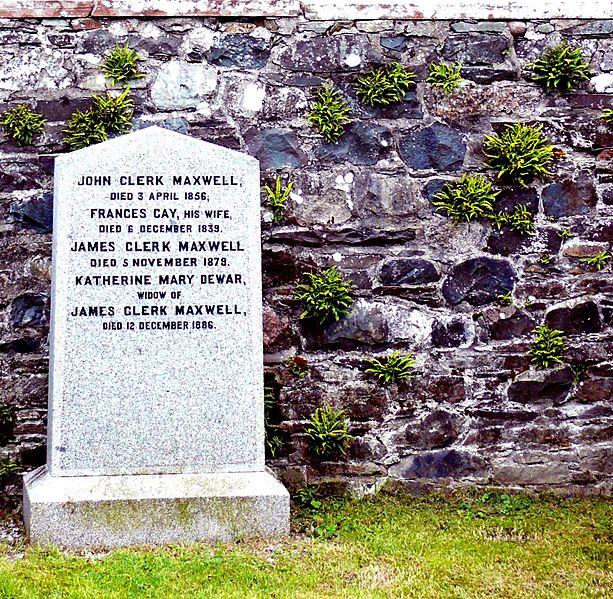 James Clerk Maxwell's gravestone in Parton graveyard Ayrshire - Wikimedia
