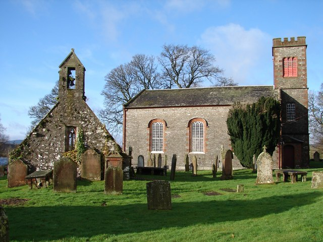 Parton Kirks and old graveyard Wikimedia