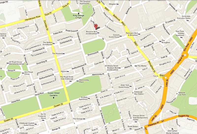 Google map Edinburgh Scotland Street