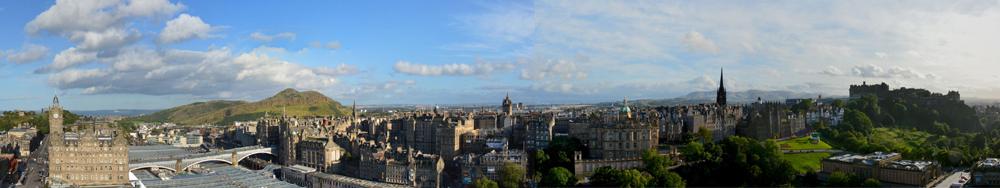 Panoramic view of Edinburgh © 2012 Scotiana.