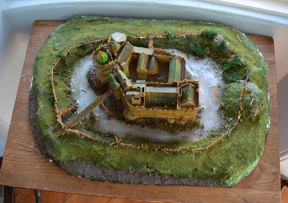 Dirleton Castle model general view