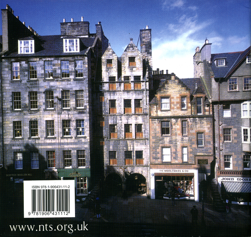 Gladstone's Land The National Trust for Scotland 2012 back cover